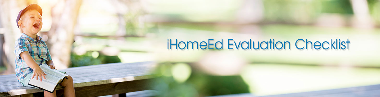 iHomeEd Evaluation Checklist for Pennsylvania Homeschoolers